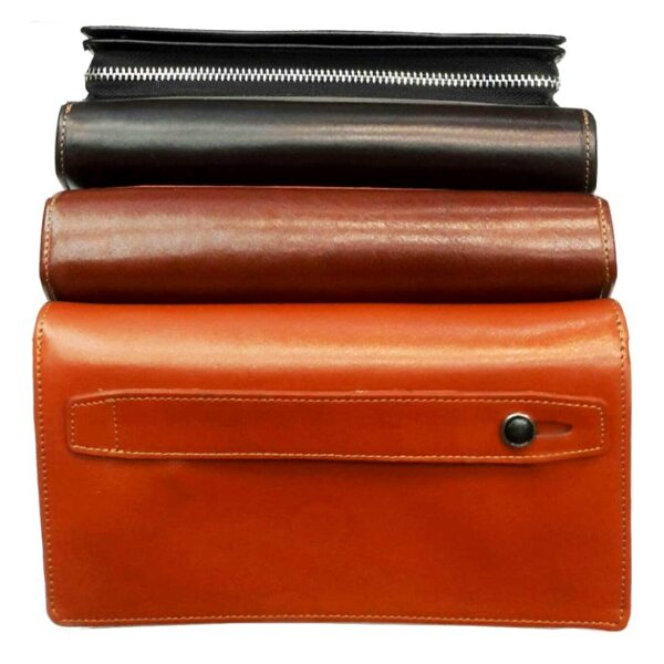 Behell Leather Platform 00 600x600 - کیف پول و جا موبایلی تمام چرم زنانه و مردانه زیپ دار با جعبه چوبی B113