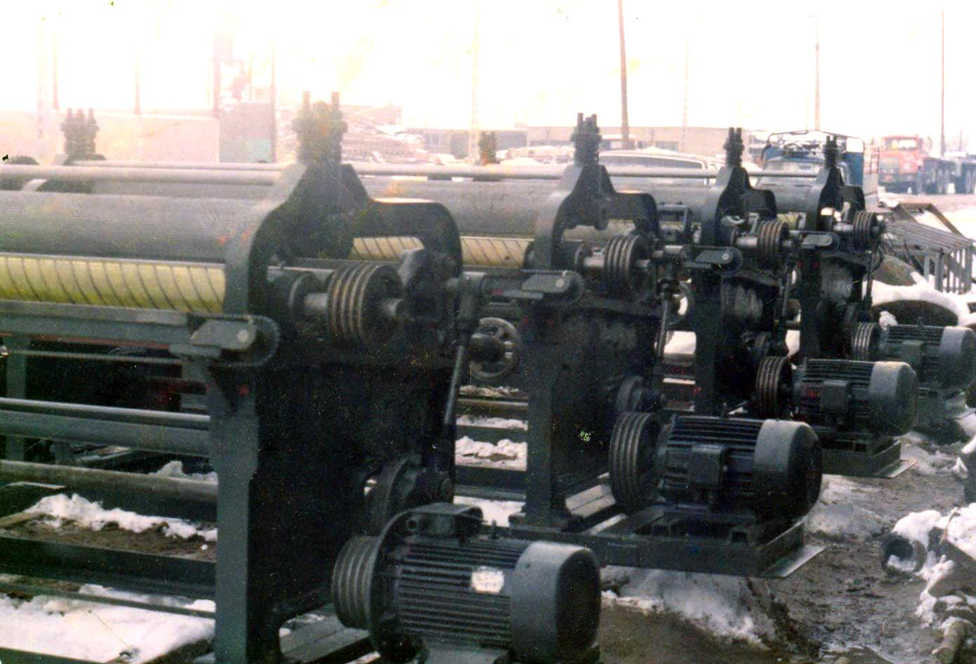 Fleshing Machines built in Tabriz for Leather Industry1980s - تاریخ چرم در ایران