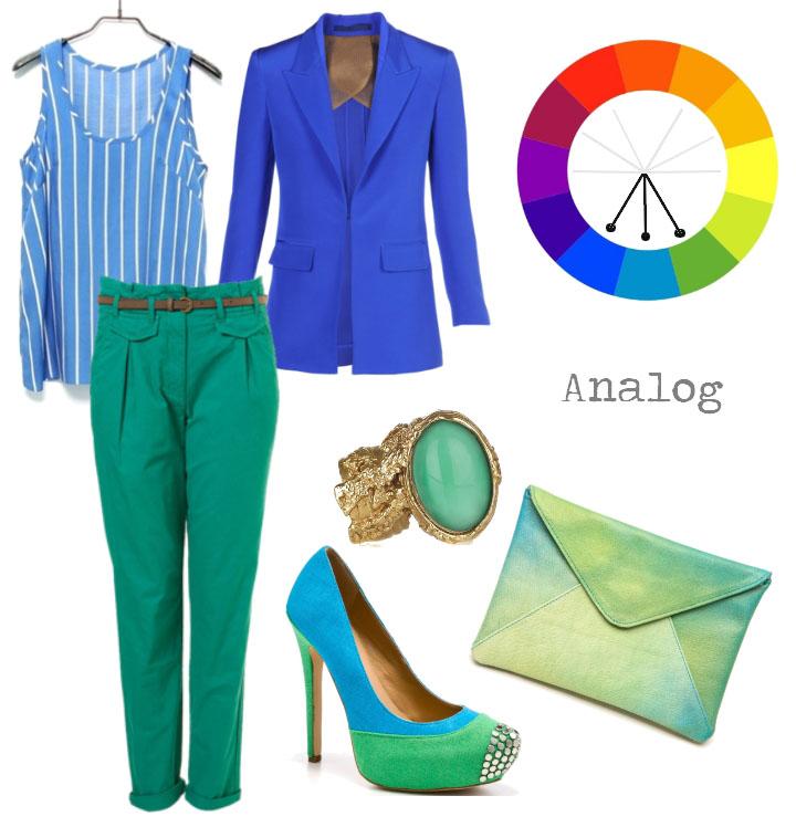 آنالوگ 2 - چگونه لباس های خود را ست کنیم ؟ (هارمونی رنگ پوشاک)