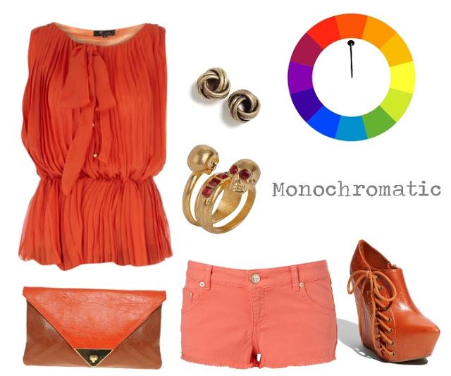 مونوکروم1 - چگونه لباس های خود را ست کنیم ؟ (هارمونی رنگ پوشاک)