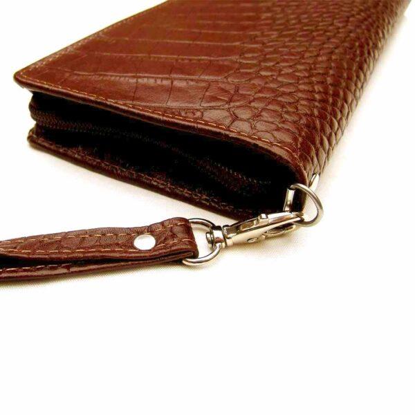 پول و موبایل چرم 1 600x600 - کیف پول و موبایل چرمی طرح دارگون کد B108