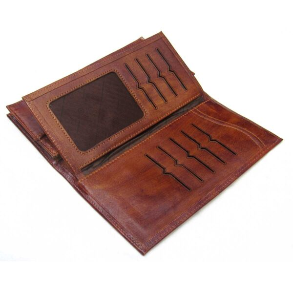 4 600x600 - کیف پول چرم با جای موبایل و جعبه هارد باکس کد B105